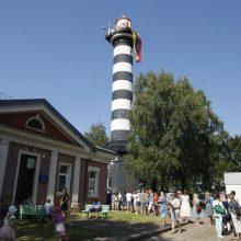 Lankytojai užgulė Klaipėdos švyturį