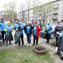 Klaipėdos talkininkų pavasario lietus neišgąsdino