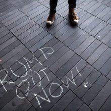 Daugiau kaip 60 proc. amerikiečių laiko D. Trumpą atsakingu už riaušes Vašingtone