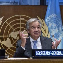 JT generalinis sekretorius ragina skelbti pasaulines paliaubas