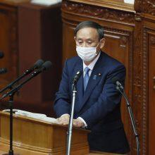 Japonijos premjeras žada iki 2050 m. pasiekti nulinį anglies taršos emisijų lygį