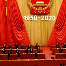 Kinijos lyderis per Korėjos karo minėjimą įgėlė Jungtinėms Valstijoms