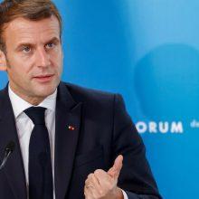 E. Macronas sukritikavo JT Saugumo Tarybą