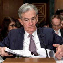 JAV CB vadovas: ekonomika atsigaus tik žmonėms nustojus bijoti koronaviruso