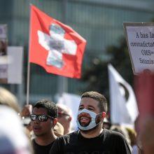 Šveicarijoje pirmą kartą per parą registruota daugiau kaip 3 000 naujų infekcijų