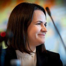 """Baltarusijos opozicijos lyderė teigia esanti """"patenkinta"""" streiku"""