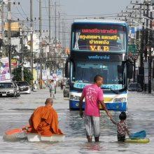 Tailande potvyniai nusinešė mažiausiai penkių žmonių gyvybes