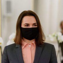 S. Cichanouskaja šaukiasi Vašingtono ir Maskvos pagalbos