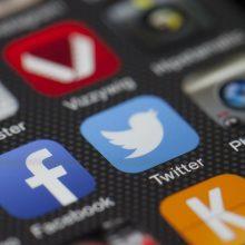 """""""Facebook"""" pelnas gerokai augo, """"Twitter"""" – mažėjo"""
