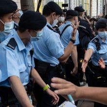 Prie Honkongo teismo minios susirinko palaikyti disidentų