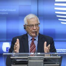 J. Borrellis: ES turi stabdyti Rusiją, išsaugodama ryšio kanalus, kur interesai sutampa