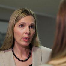 Po kontakto su užsikrėtusiuoju koronavirusu vidaus reikalų ministrė dirbs nuotoliniu būdu