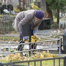 Darbymetis kapinėse: prieš Vėlines žmonės skuba tvarkyti amžino poilsio vietas