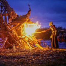 Palangoje ir Juodkrantėje vakare liepsnos Lygės laužai
