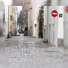 Kebli situacija Klaipėdos senamiestyje: malšins ženklų chaosą