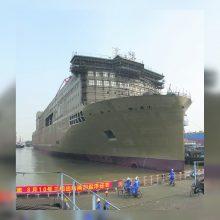 Kinijoje pastatytas naujas Klaipėdos keltas jau ant vandens