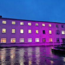 Klaipėdos rajono savivaldybė prisideda prie akcijos: nušvis purpurine spalva