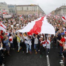 """S. Cichanouskaja padėtį Baltarusijoje lygina su """"Prahos pavasariu"""""""