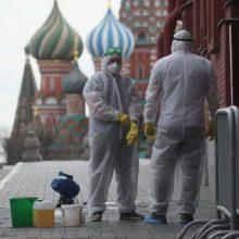 Rusijoje – daugiau nei 8,1 tūkst. naujų COVID-19 atvejų, mirė 329 pacientai