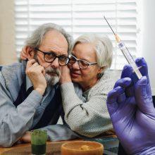 Kaip paskatinti skiepytis prieštaringai nusiteikusius senjorus?