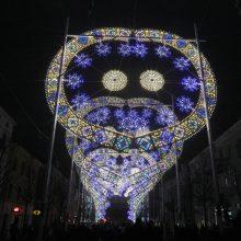 Šiųmetis Klaipėdos šviesų festivalis – be ažūrinių arkų tunelio