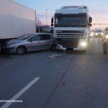 Skaudi avarija Klaipėdoje: nukentėjo nėščioji