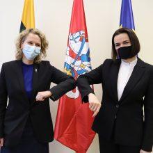S. Cichanouskaja prašo ES sankcijų Baltarusijos režimo įmonėms