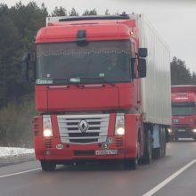 Dėl polaidžio dalyje kelių ribojamas sunkiojo transporto eismas