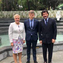 Tbilisyje atidarytas atnaujintas Vilniaus skveras