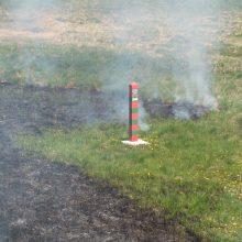 Dėl gaisro Karaliaučiuje Šakių rajone formuojasi smogas