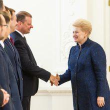 D. Grybauskaitė padėkojo Vyriausybei už bendrą darbą