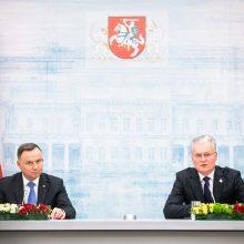 Lietuvos ir Lenkijos vadovai akcentuoja tarpvalstybinių ryšių svarbą per krizę