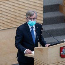 V. Pranckietis ragina Seimą nepolitikuoti: atsakomybė krinta visiems vienodai