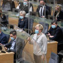 Premjerė įvardijo dešiniųjų Seimo privalumą: nešvaistėme laiko tyrimams