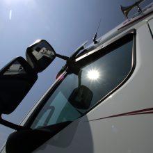 Klaipėdos plente vilkiką vairavo girtas vairuotojas