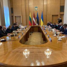 G. Landsbergis Kijeve: palaikome Ukrainą, Rusija privalo nutraukti provokacijas