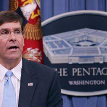 """Pentagono vadovas: JAV atkūrė Irano """"atgrasymo lygį"""""""