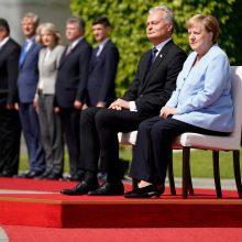 G. Nausėda dėl Astravo AE kreipėsi į A. Merkel: prašome pagalbos