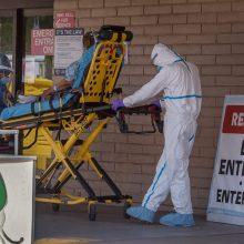JAV koronaviruso aukų skaičius perkopė 120 tūkstančių