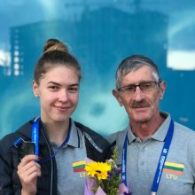 Treneris M.Romanovskis neabejoja, kad darbas su geriausiais Lietuvos plaukikais padėtų vilnietei žengti į aukštesnį lygį.