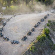 """""""Geležinis Vilkas"""": Pabradėje prasideda bendros kovinių operacijų treniruotės"""