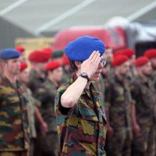 Belgijos gynybos ministrė ir kariuomenės vadas lankys savo karius Rukloje
