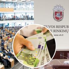 VRK paskirstė biudžeto dotacijas: partijoms padalinta 2,75 mln. eurų