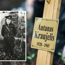 Vilniuje šventinamas paminklas paskutiniam partizanui – A. Kraujeliui-Siaubūnui