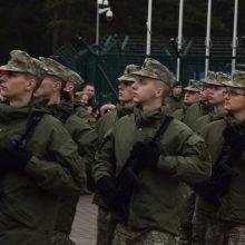 Gedimino štabo batalione prisiekė tarnybą pradėję šauktiniai
