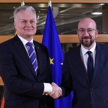 G. Nausėda atvyko į Briuselį įtemptoms deryboms dėl ES biudžeto