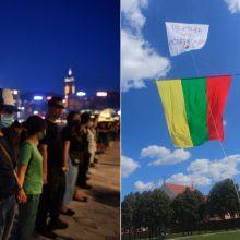 Vilniuje – paramos akcija Honkongo keliui