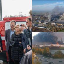 Po gaisro Alytuje ministrė padarė išvadas: reikia daugiau dėmesio civilinei saugai