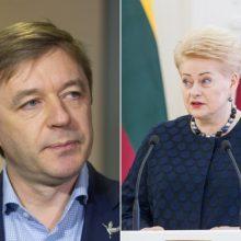 R. Karbauskį papiktino prezidentės kritika S. Skverneliui