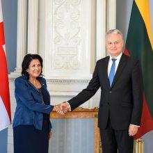 Lietuvos prezidentas išreiškė paramą Gruzijos europinei integracijai